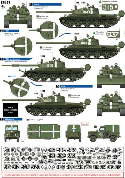 Czechoslovakia 1968 1 russian t 55a t 62a btr 152 russian gaz 69