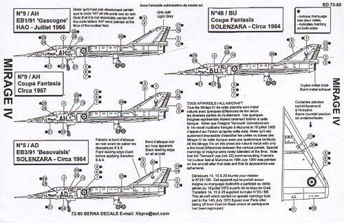 [Fafl] Mirage IV 1/72 BER72080